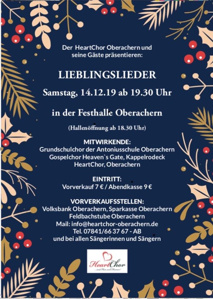 Jahreskonzert HeartChor Oberachern